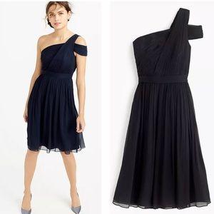 NWT jcrew cara off shoulder silk dress 10